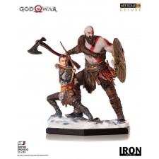 Kratos & Atreus God of War Estatua 1/10 Deluxe Art Scale