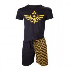 Pijama Corto Zelda Logo -...