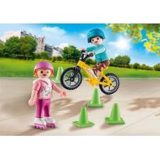 Niños con Bici y Patines -...