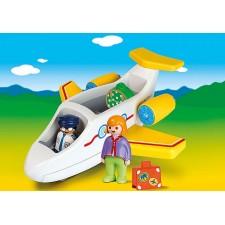 Playmobil - 1.2.3 Avión con...
